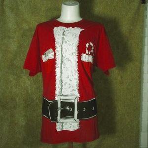 Christmas Santa Suit Shirt Size Large